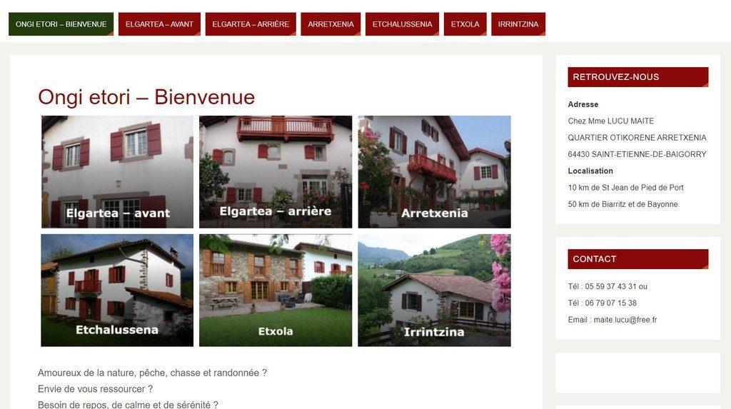 Gîtes ruraux à Saint Etienne de Baïgorry