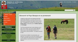 "Site ""Randos et circuits au Pays Basque"""