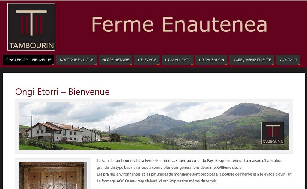 "Site ""Fromage Tambourin"" - Producteur d'Ossau-Iraty"