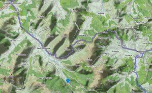 Localisation départ randonnée source de la Bidouze
