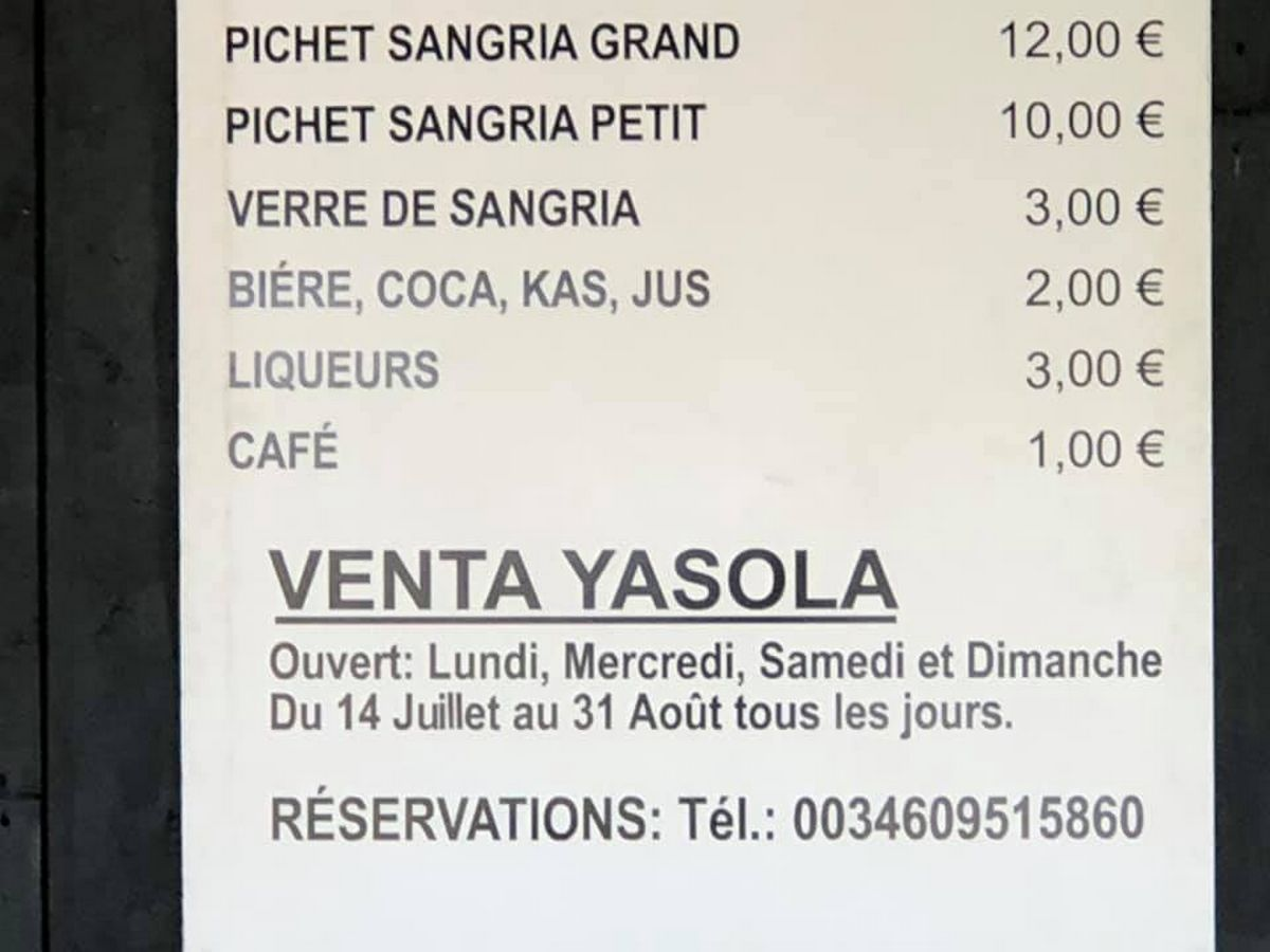 ventas insola zahar et Yasola - Randonnée - Bernard Duwez